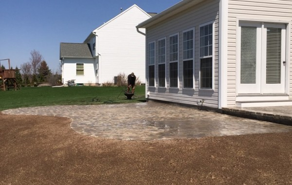 Patio build with large landing area